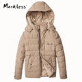 Markless Men Thick Down Jackets Brand Clothing Mens Casual Hooded White Duck Down Jacket Fashion Male