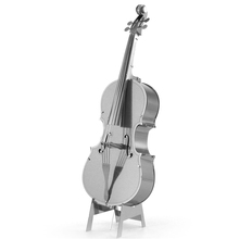 2015 New Arrived Contrabass Fun 3d Metal Diy Steel Scale Miniature Model Kids Puzzle Toys Jigsaw Adults Hobby Kits Hot Building(China (Mainland))