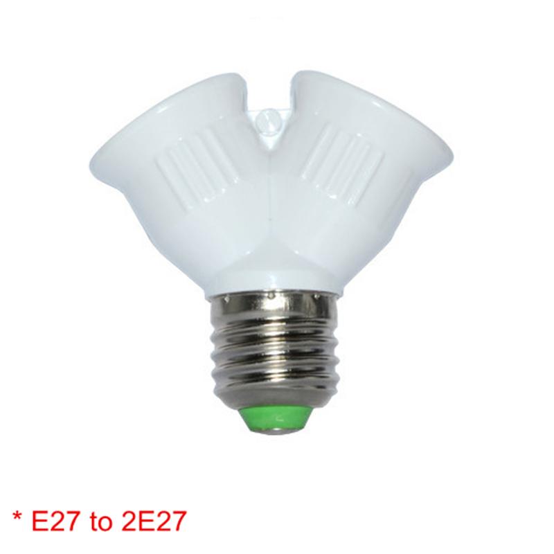 Fireproof E27 TO 2E27 Lamp Socket Base Converter Splitter Adapter 2 E27 Lamp Holder Converter Bulb lighting(China (Mainland))