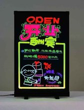 Designed for you Wholesale price 23*31cm,transparent LED writing flash fluorescent board with aluminum alloy frame billboard(China (Mainland))