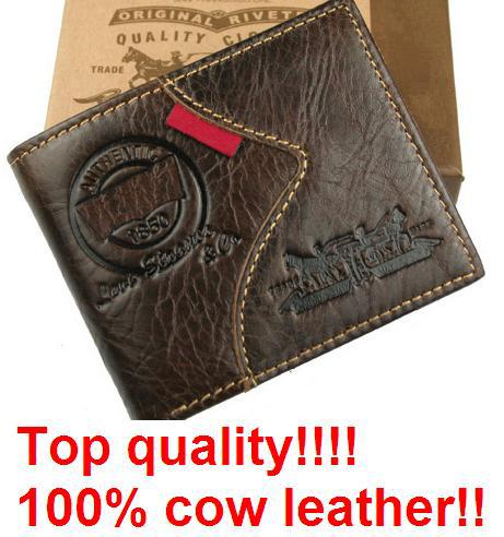 W-A02 Free shipping, dropshipping,2014 fashion Men Purse + coin pocket men wallet,Genuine leather men wallet, men wallet(China (Mainland))