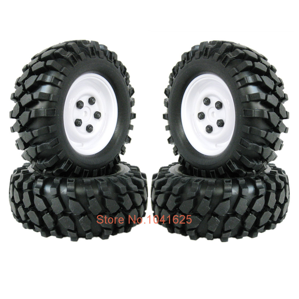 4Pcs/lot 1.9 inch Rubber 108mm RC Crawler Tires &amp; Wheel Rim Hex 12mm For 1-10 Scale Rock Racer Car HPI Redcat Racing AXIAL<br><br>Aliexpress