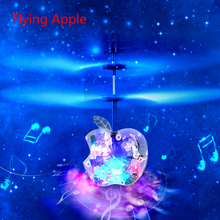 Auto Induction Mini Levitation Flying Apple Drones RC Quadcopter Helicopter with Music and Discus Lights Kids Children Toys Gift(China (Mainland))