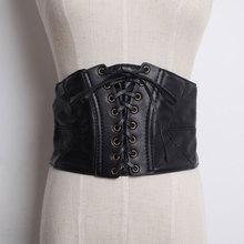 Fashion fashion sexy wild female leather strap ultra wide elastic waist cummerbund belt(China (Mainland))
