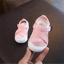 דימי 2019 קיץ תינוקות פעוט נעלי תינוק בנות בני פעוט סנדלי החלקה לנשימה רך ילד אנטי התנגשות נעליים(China)