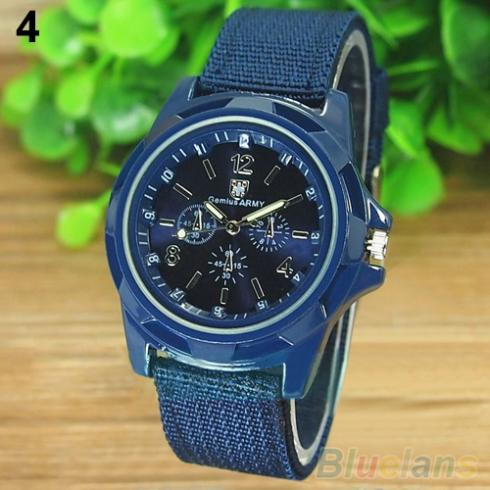 Men s Fashion Military Army Style Nylon Band Sports Analog Quartz Wrist Watch 1L4O 4OUO