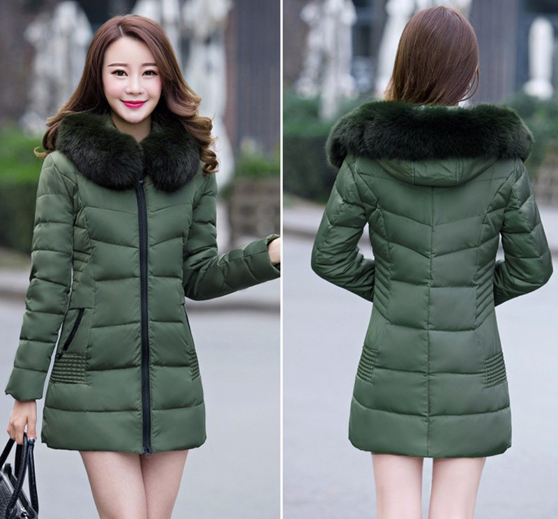 2016 Women Winter Jackets Coats Embroidered Thick Warm Hooded  Duck Down Padded Parkas For Women's Winter  Fur Jacket