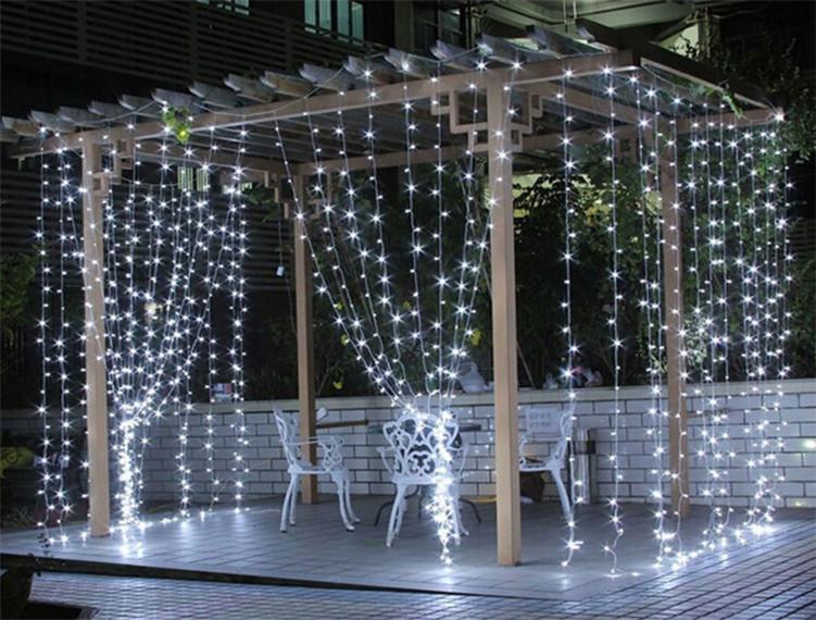 LED Curtain Light 3M*3M 300 LED Bulbs Christams Xmas The Light Emitting Diode EU Plug White Multi-color Twinkle LED Lamp(China (Mainland))
