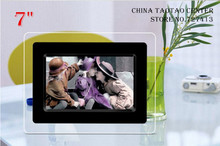 7 inch Single function Digital photo frame, hd LED screen, 480 x234 electronic photo album support (SD/ MMC/ MS/ XD)