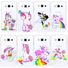 Buy Cute Hippo Rainbow Unicorn Horse Clear Hard Plastic Case Cover Samsung Galaxy S3 S4 S5 Mini S6 S7 Edge Note 2 3 4 5 for $1.28 in AliExpress store