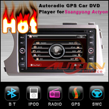 2 DIN Ssangyong Kyron DVD Player built-in GPS Navigation Stereo With Radio TV Multimedia Stereo