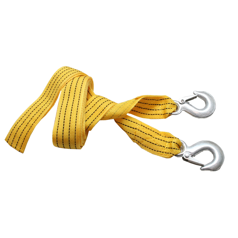 High Strength serviceable portable tow rope Load 3 tons of Nylon Car Trailer Rope Tow Truck Bus Traction Rope 4 Meters 1pc set(China (Mainland))