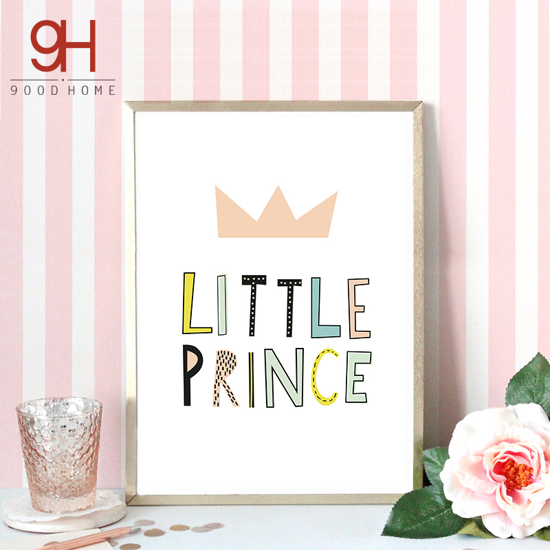 Buy Cartoon Little Princess Quote Canvas Art Print Poster Wall Pictures For