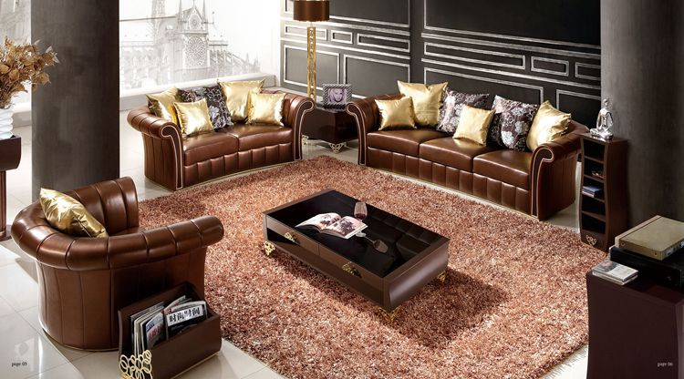 Italian Design Home Furniture Leather Sofa Sectional Sofa Living Room Furnitu