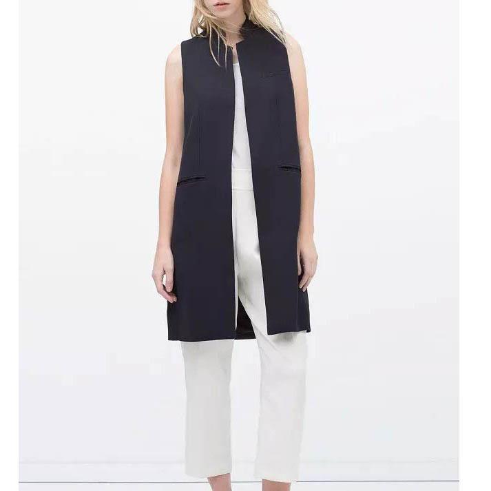 New Fashion Women Long Vest Sleeveless Slim Vest Casual Slim Vest Coats Spring Office Lady Temperament Vest Outwear Tops BL11