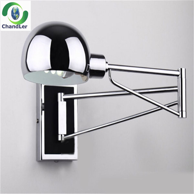 wall lighting extend swing arm wall dimming lamps modern wal