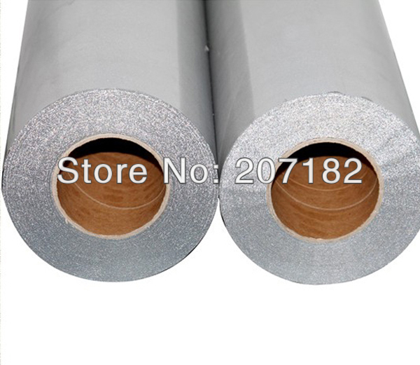 One Roll 0.5 x 20M Silver Color Reletive Heat Transfer Vinyl,Cutting Plotter Film, Heat Transfer Film(China (Mainland))