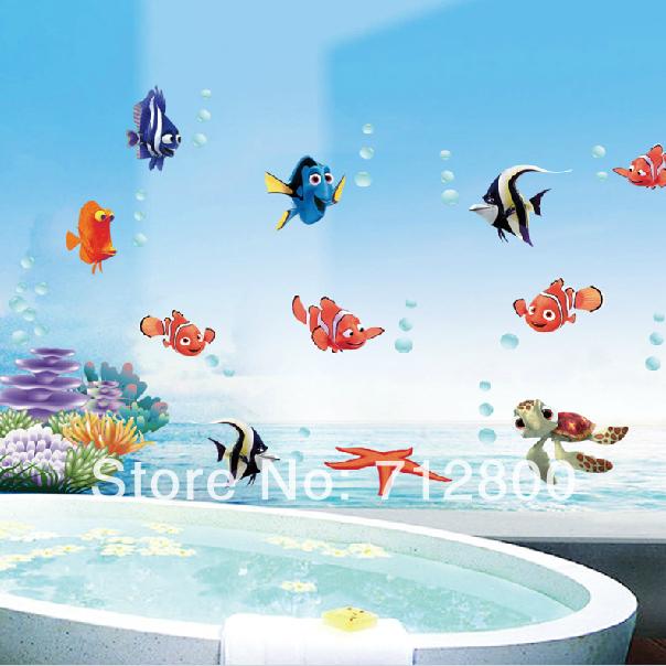 fish u burbuja extrable d papel pintado en las paredes bao decoracin de pared pegatinas para nios kids room tatuajes de par