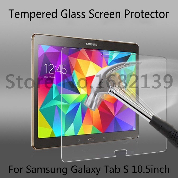 2.5D Arc Edge Anti-Explosion 100% Tempered Glass Screen Protector Tablet PDA Protective Film For Samsung Galaxy Tab S 10.5(China (Mainland))