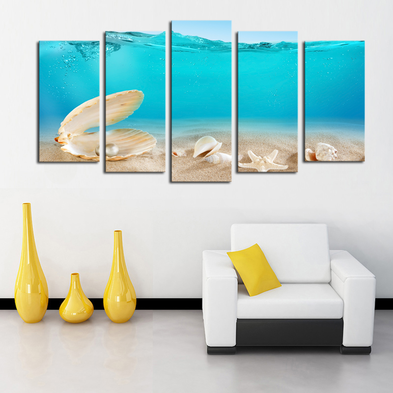 2016 New Fallout Paintings Pearl Shells Picture Canvas Print Painting Wall Art Wholesale For