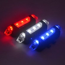 Portable USB Rechargeable Cycling Bicycle Light 3 LED Lamp Waterproof Bike lights Tail Rear Safety Warning Light Super Bright