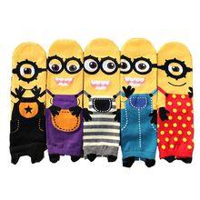 Kids Socks Boys Cotton Minion Seamless Children Socks Girls Calcetines Ninas Baby Sokken Chaussettes Hautes Enfants
