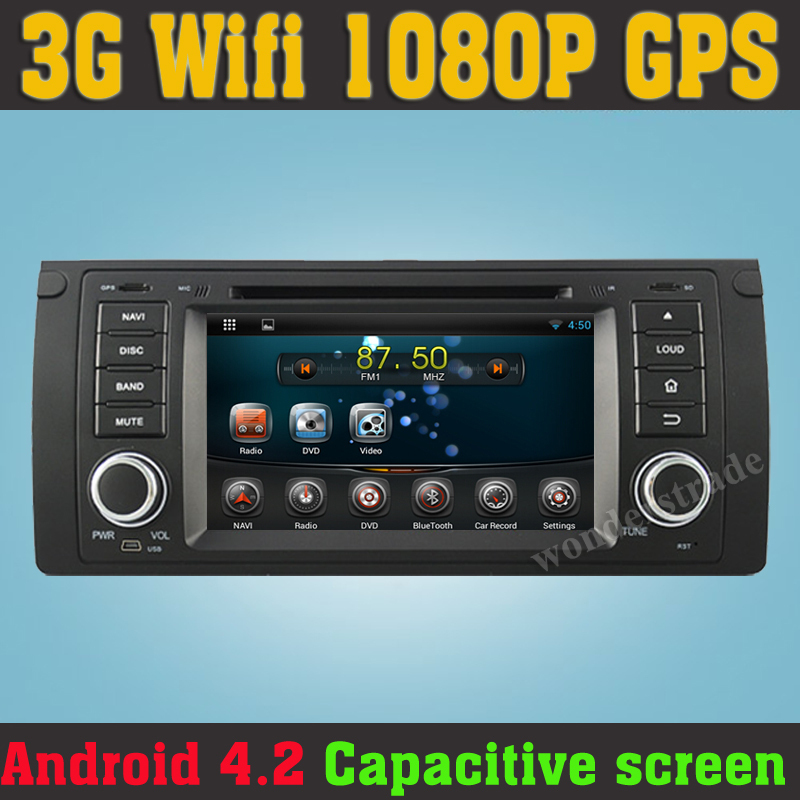 Pure Android 4.2 Car DVD Radio PC Stereo GPS Navigation BMW E39 E53 X5 / Capacitive Touch Screen + WiFi - HongKong Summit Trades & Technology Co., Ltd store