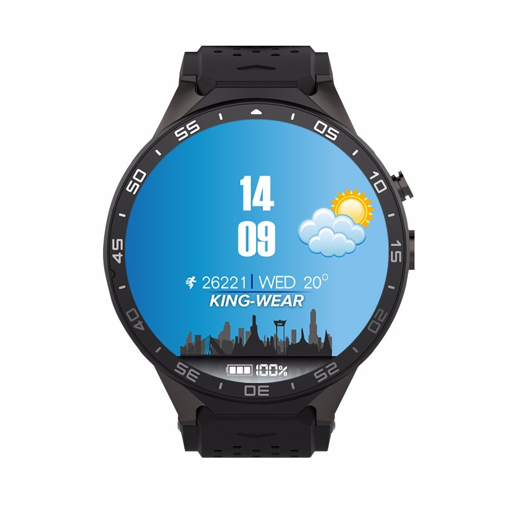 "KW88 Bluetooth Smart Watch Android 5.1 MTK6580 Quad Core Smartwatch 1.39"" Display 1.3GHZ ROM 1G+RAM 8G Pedometer WIFI 3G Clock(China (Mainland))"