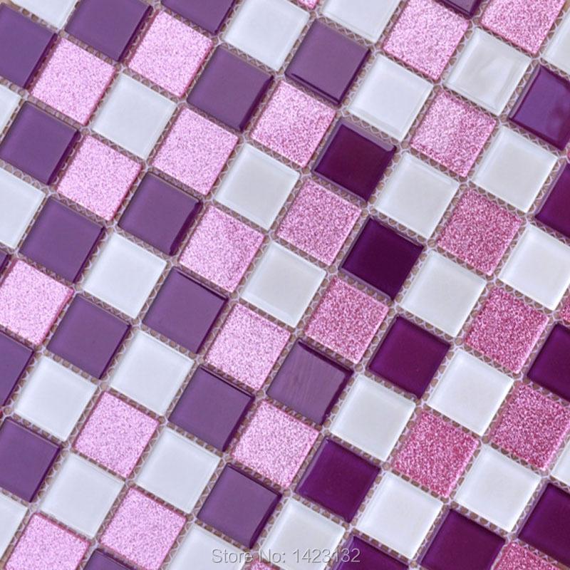 glass tile purple glass mosaic tile pk562 kitchen backsplash tiles
