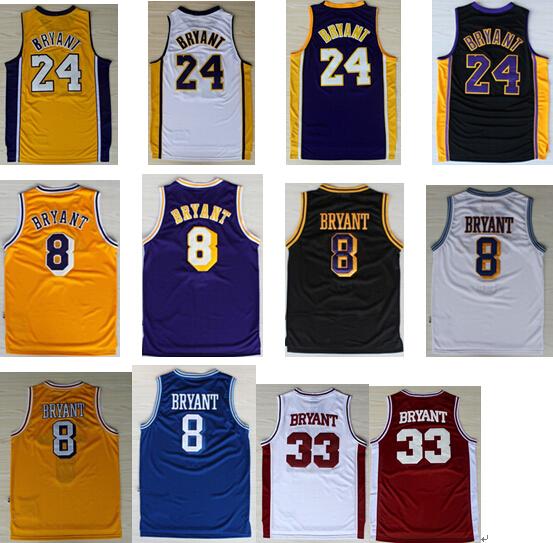 24 kobe bryant cheap basketball jerseys 8 bryant throwback jerseys 33 kobe high school jersey free ship by Epacket(if possible)(China (Mainland))