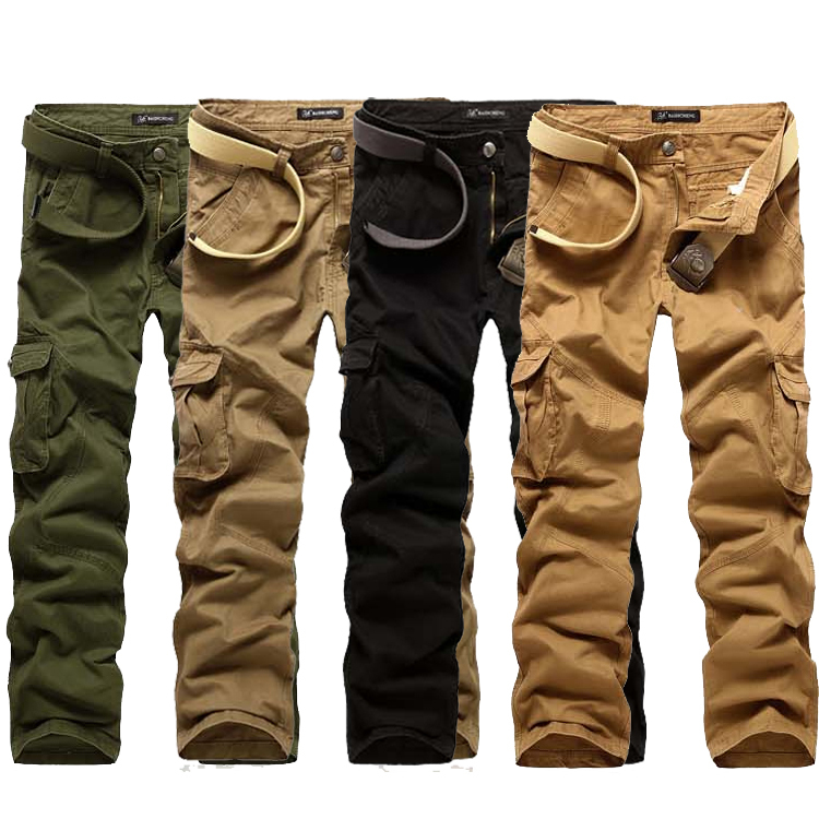 New Men's cargo pants, slim fit Camouflage pants men, loose male trousers A8317 - Baby Angel World Co,Ltd store