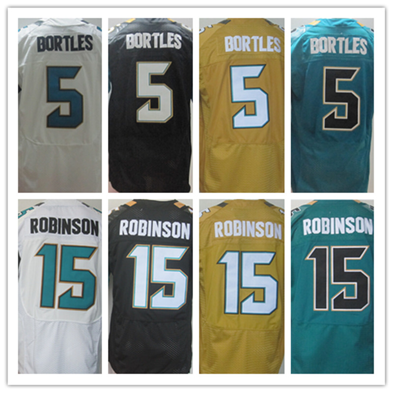 Best quality jersey,Men's 15 Allen Robinson 5 Blake Bortles elite jersey,White Black Yellow Green,Size M-XXXL(China (Mainland))