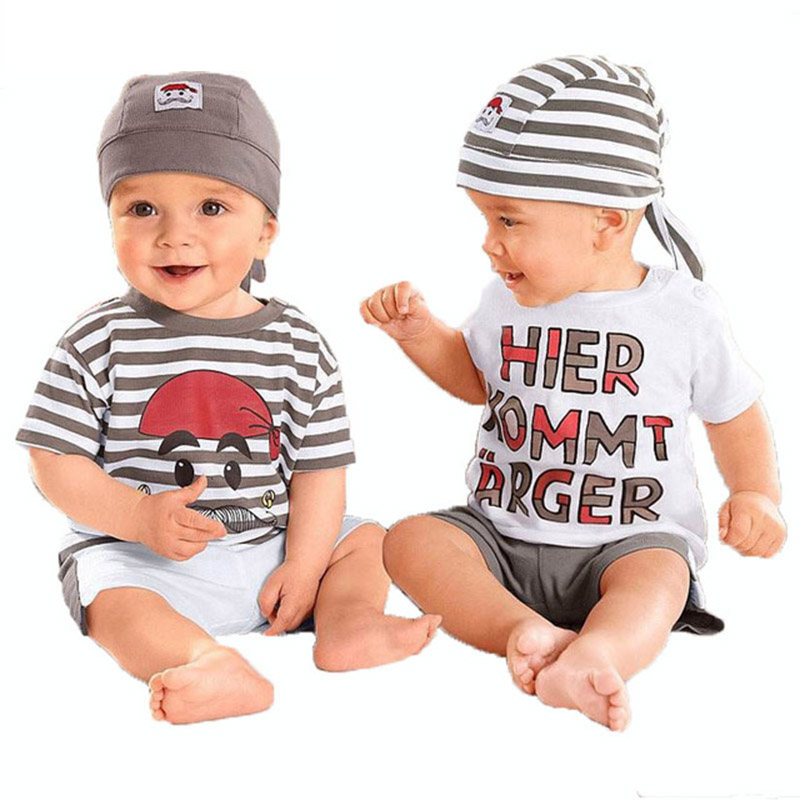 Retail 2015 baby wear boys girls romp Candy color cartoon insect insect ha clothing 3 Rompers, clothing + pants + hat 2015 New<br><br>Aliexpress