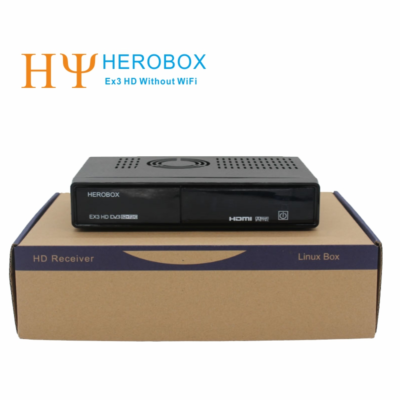 [Genuine] HEROBOX EX3 HD DVB-S2+DVB-T2+DVB-C HD Linux Enigma2 Satellite Receiver Without WiFi Tuner 752MHZ MIPS Free shipping(China (Mainland))