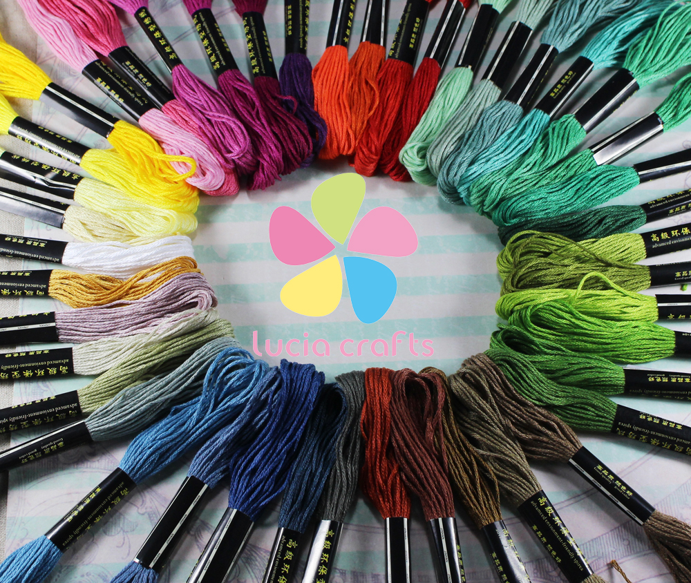 45pcs Anchor Similar Cross Stitch Cotton Embroidery Thread Floss Sewing Skeins Craft D20050004(HS45)