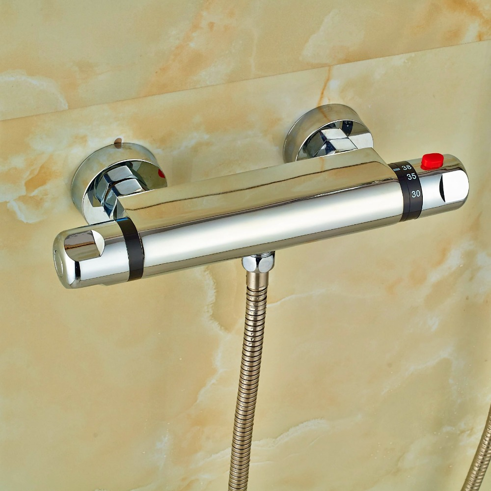 Europ Design Brass Chrome Polish Mixer Body Bathroom Thermostatic Shower Fittings(China (Mainland))