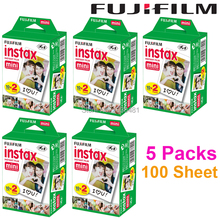 Fujifilm Fuji Instax Mini White Film 100 Sheet Instant Photo Paper For Instax Mini 8 7s 25 50s 55 SP-1 Camera(Hong Kong)