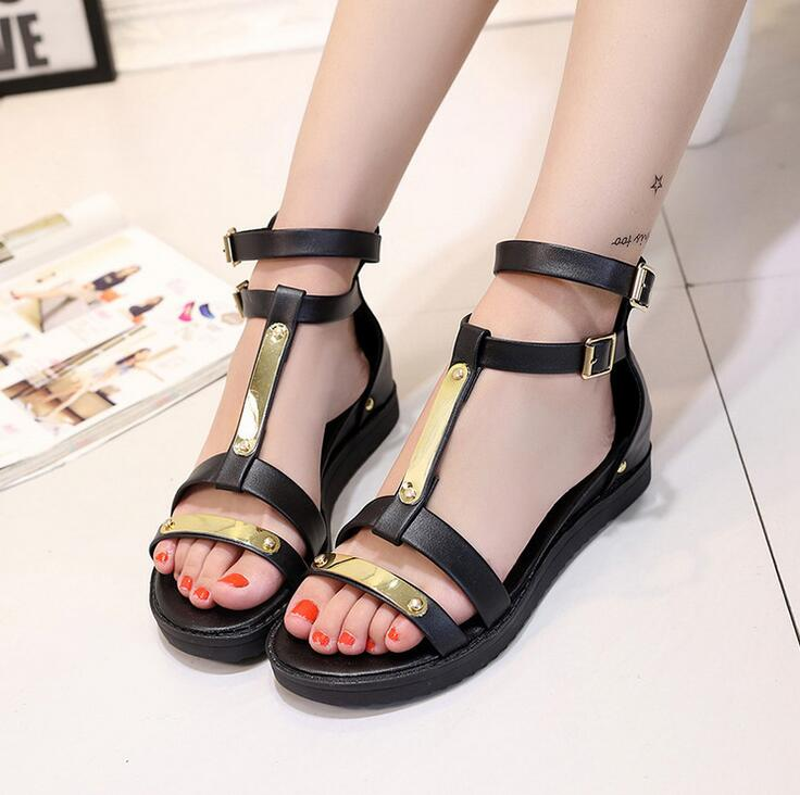 2016 Women jelly flat heel Sandals Hasp open toe platform Leisure sandals work Casual shoes size 36-40 Special offer MXC781(China (Mainland))