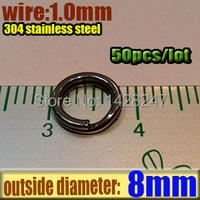 Приманка для рыбалки BS Fishing Tackle 304 50 BS Stainless Steel Split Rings-001