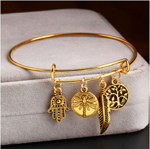European and American fashion retro fashion style bracelet jewelry metal bracelet leaves flowers more hypoallergenic accessories