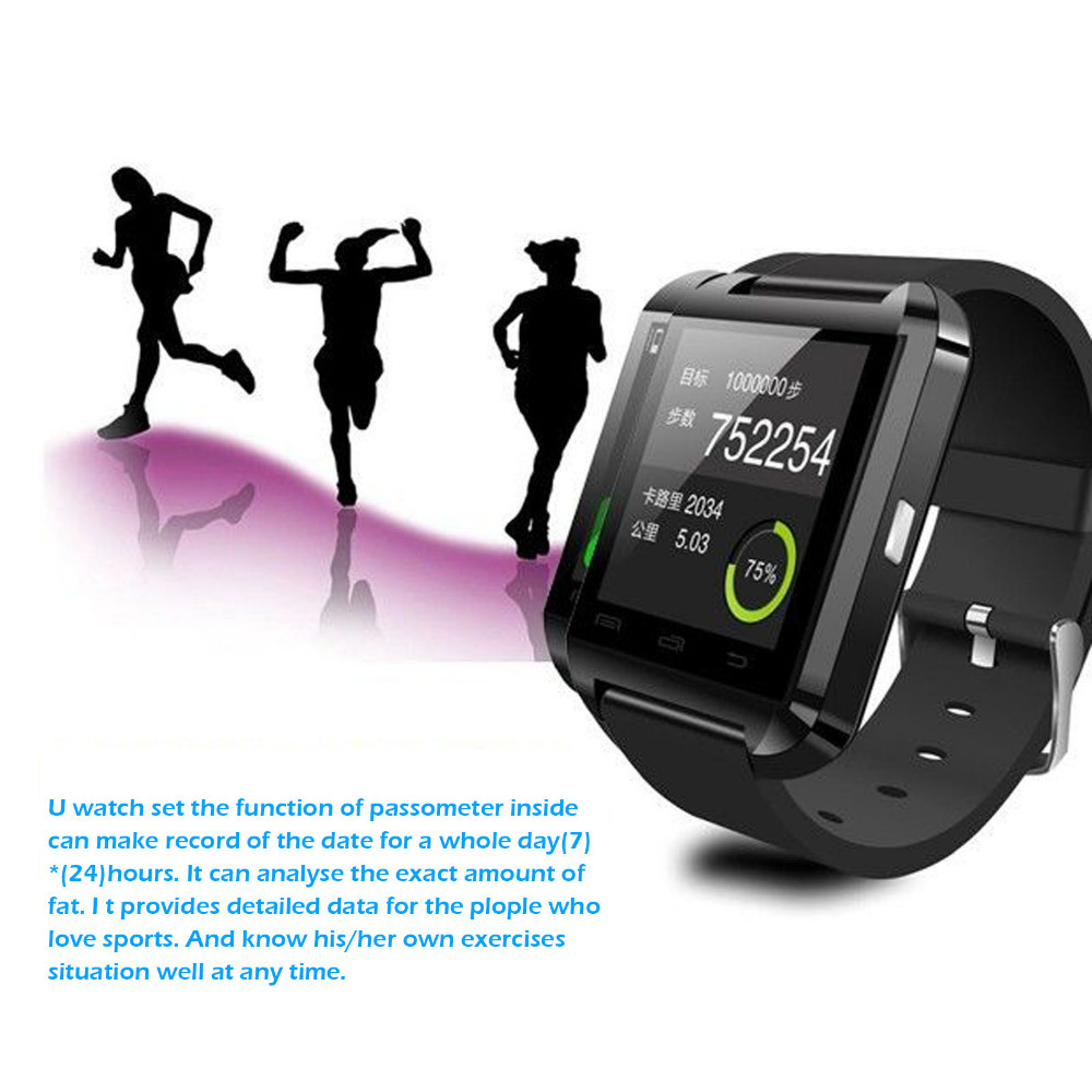 Wholesale Bluetooth Watch WristWatch U8 Watch for iPhone 4/4S/5/5S Samsung S4/Note 2/Note 3 HTC Android Phone Smart phones(China (Mainland))