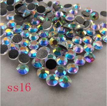 (3.8-4.0mm) SS16 200gross/28800pcs crystal hot fix rhinestones , garment hot fix products free shipping(China (Mainland))