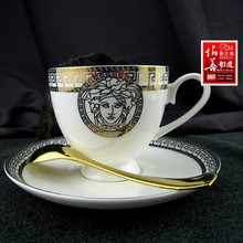 Sample room tableware Western tableware bone china tableware ceramic coffee cup and saucer set bone china