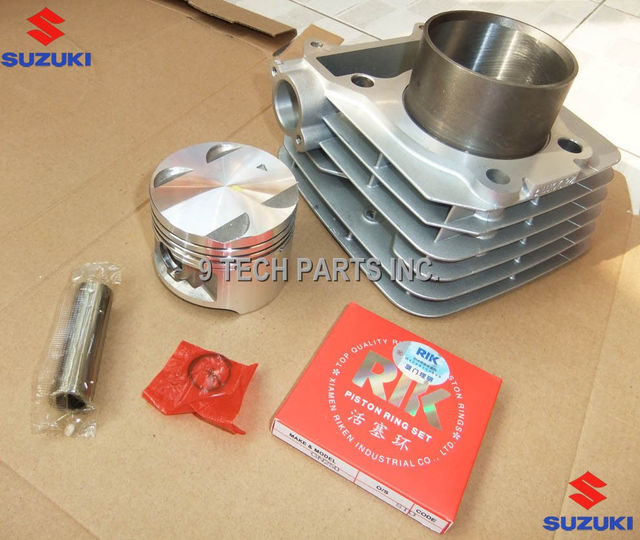 CYLINDER KIT WITH PISTON RINGS 72mm Bore OEM 11210-38202 for GN250 DR250 DF250 GZ250 LT250 249CM3