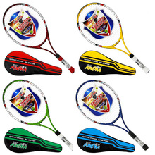 Hot 4 Color Ultralight Carbon Aluminum Tennis Racket Adult Student Training Racket with String Free Racket Bag Grip Size: 4 1/4(China (Mainland))