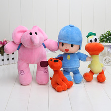 Newest 4pcs/lot Kids Brinquedos Gift Pocoyo Elly & Pato & POCOYO & Loula Stuffed Plush Toys Good Gift For Children(China (Mainland))
