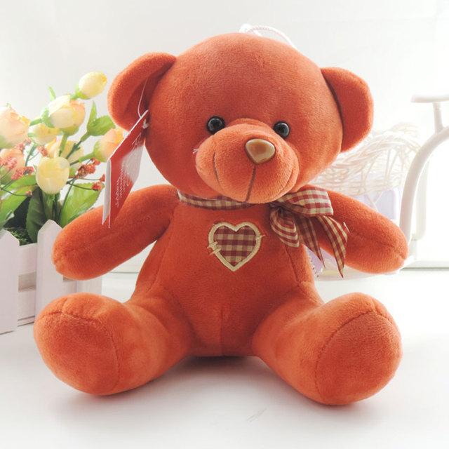 20 СМ Сидит Плюшевый Медведь Симпатичные Мягкие Плюшевые Игрушки Куклы Сердце Боути Мишки-Игрушки Дети День Рождения Новый Год Подарки