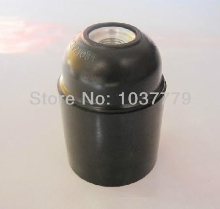 E27 Spiral socket black plastic smooth lamp holders 100pcs/lot<br><br>Aliexpress