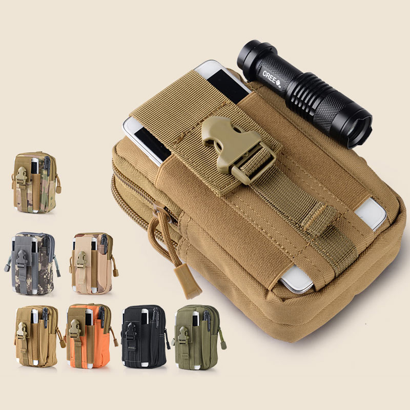 Universal Outdoor Waterproof Molle Military Waist Belt Zipper Phone Bag Case Pouch For iPhone Samsung Galaxy Sony HTC LG Huawei(China (Mainland))