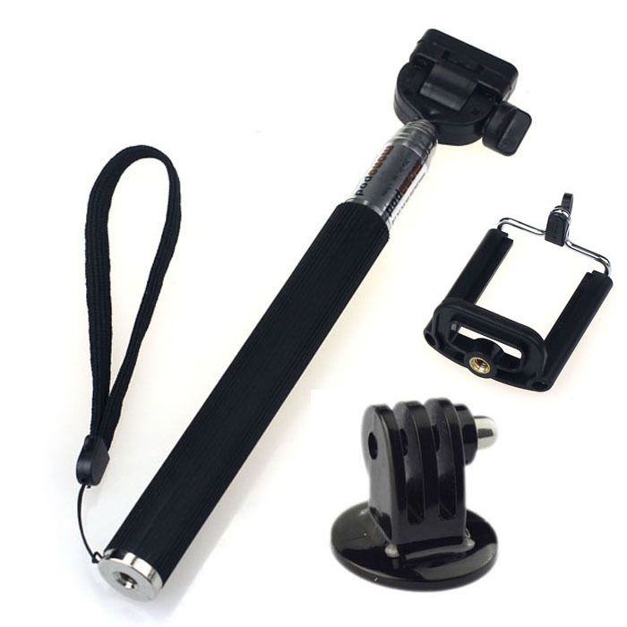 Gopro Accessories Extendable Handheld Aluminum Alloy Flexible Telescopic Monopod Tripod Holder for Go Pro HD Hero1 2 3 Carmera(China (Mainland))